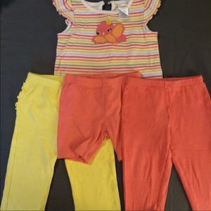 Adorable Gymboree set with extra shorts